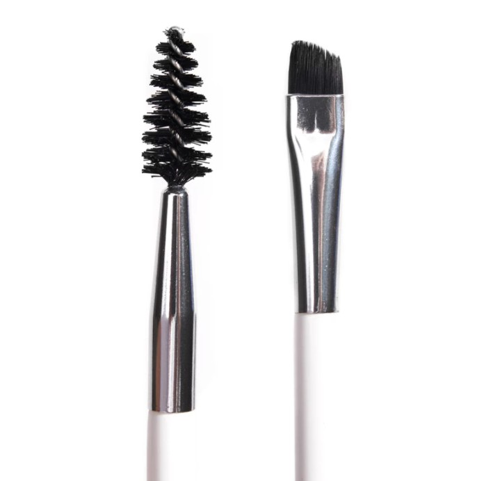 Double-ended brow brush