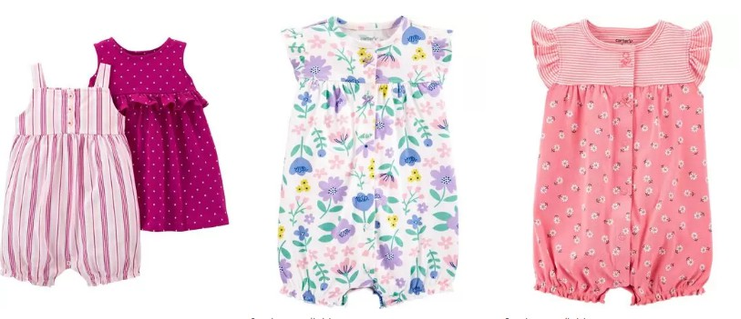 Carters baby Dresses and Rompers