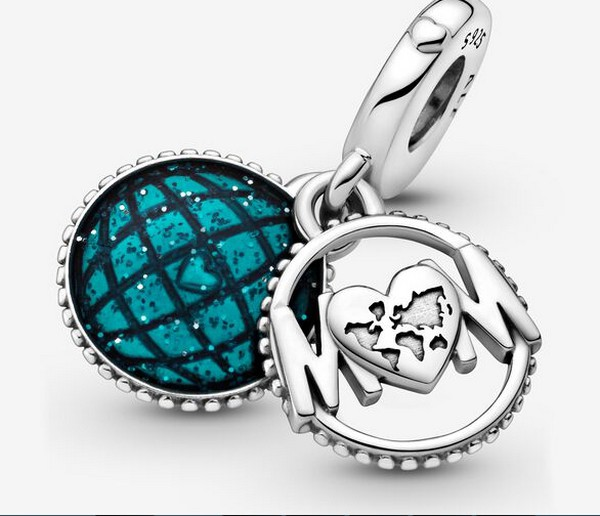Pandora Glitter Globe Mum Dangle Charm