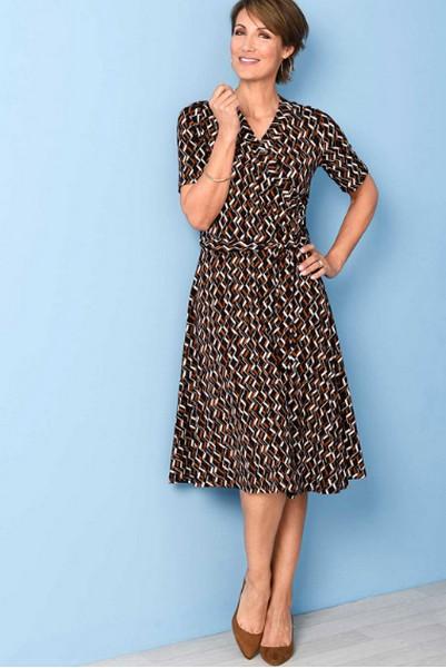 Damart Wrap Print Dress