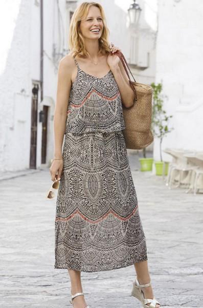 Damart Printed Maxi Dress