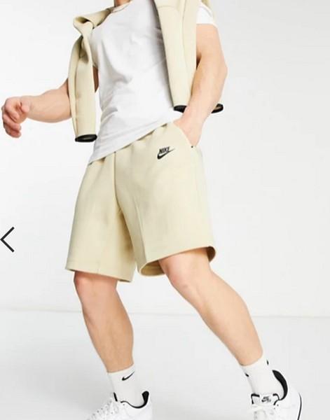 Nike Tech Fleece Shorts In Sand