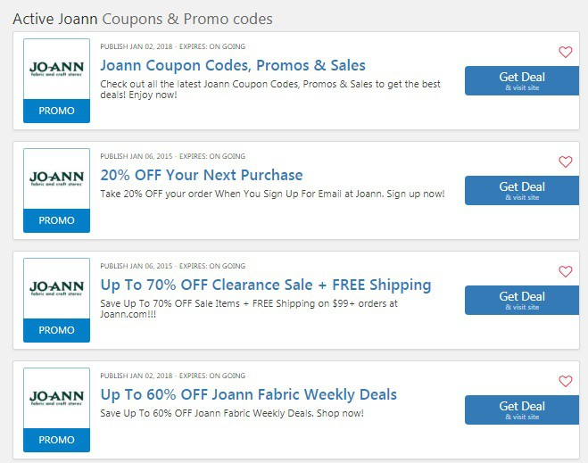 Joanns Coupons 20 Off Entire Purchase 2020 50 Off Coupon