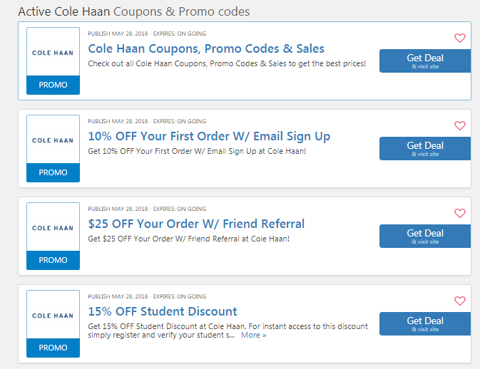 Cole Haan 10 Off First Order 30 Off Extra Coupon Code