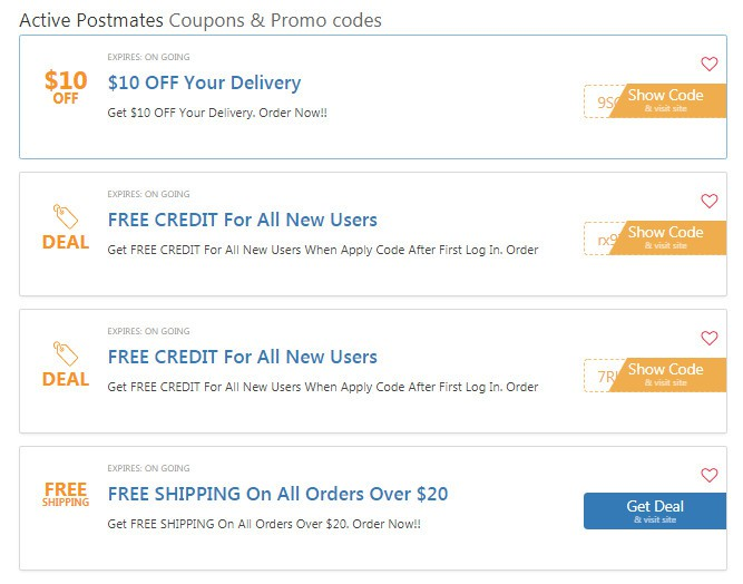 Postmates 20 Off Entire Order Promo Code For Existing Users