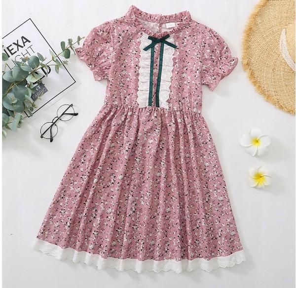PatPat Floral Print Flounced Collar Dress