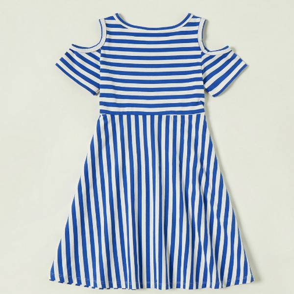 PatPat Striped Short-sleeve Dress