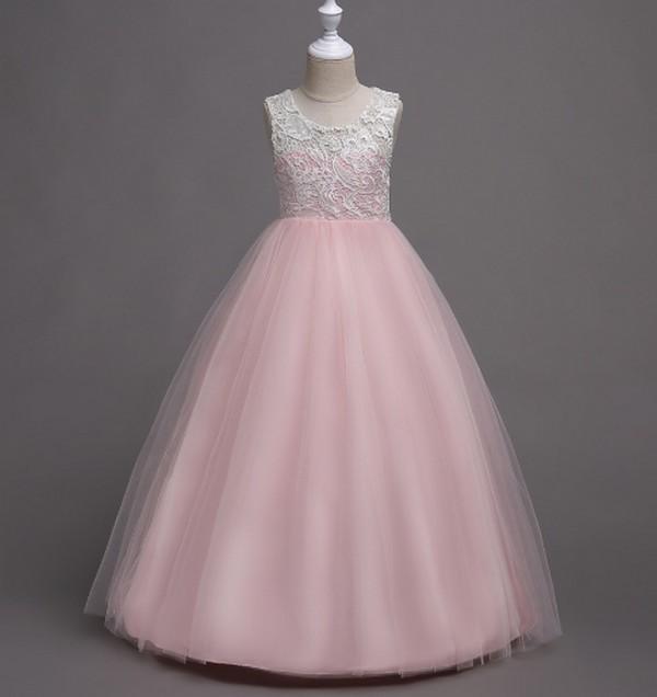 PatPat Lace Hollow Out Button Party Dress
