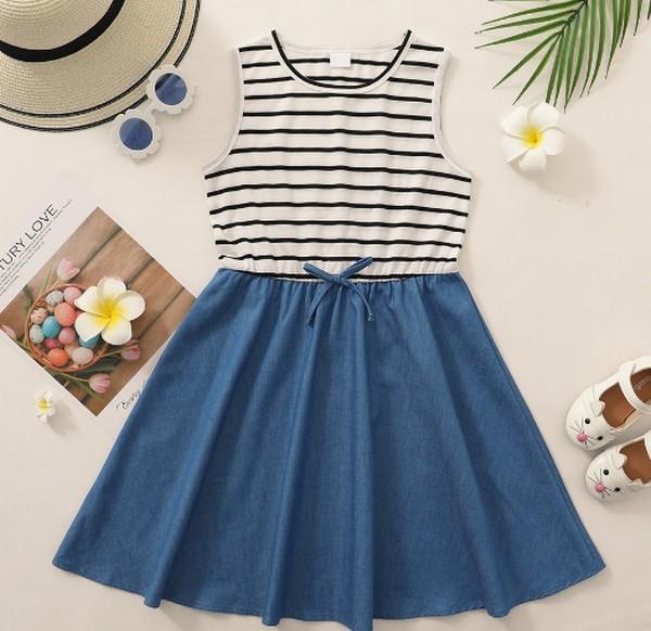 PatPat Girl Casual Denim Dress