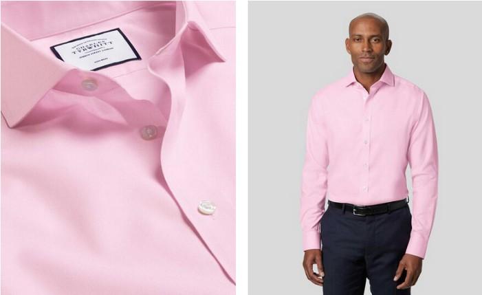 Charles Tyrwhitt Cutaway Collar Non-Iron Twill Shirt