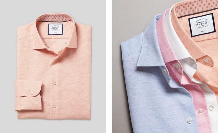 Charles Tyrwhitt Business Casual Collar Cotton Linen Shirts